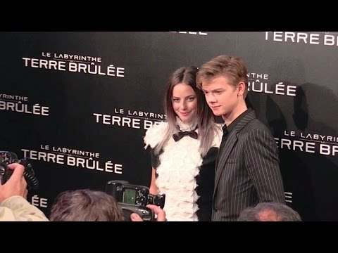 Kaya Scodelario and Thomas Brodie Sangster at the Labyrinthe 2 in Paris