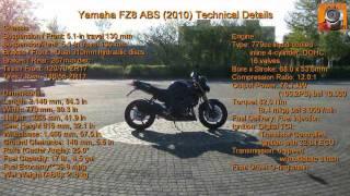 8. Yamaha FZ8 ABS (2010) Lookaround - Tech Spec