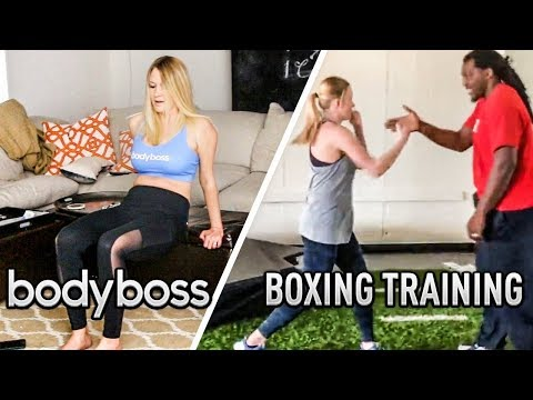 FIRST BOXING TRAINING & BODY BOSS WORKOUT FOR KSI Vs LOGAN PAUL REMATCH