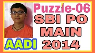 SBI PO Main-2014:Puzzle-06:Circular Sitting Arrangement [Date of birth related]:By AADI [11 yrs old]