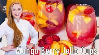VEGAN Mango Raspberry Jello Cups by Tatyana's Everyday Food