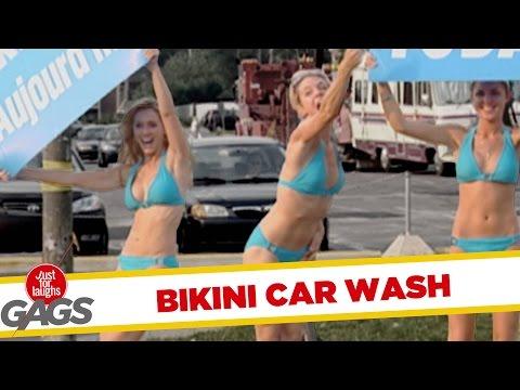 Megjöttek a bikinis lányok a kocsidat mosni!