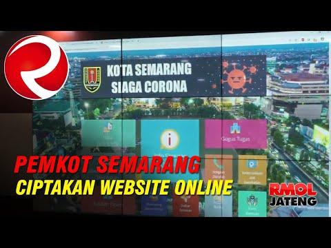 Siaga Covid-19, Pemkot Semarang Ciptakan Website Online Pantauan Kondisi Kota