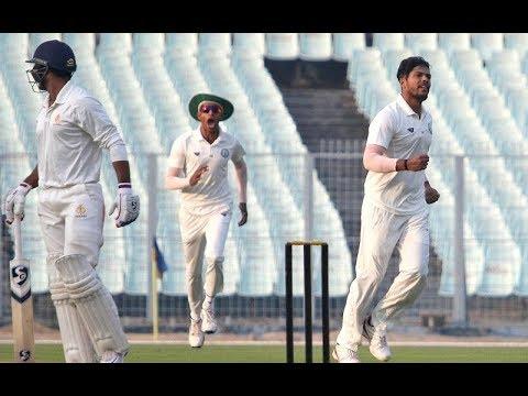 Ranji Trophy 2017-18, 2nd Semi-Final: Karnataka vs Vidarbha, Day 1 Highlights   VDH 185/10