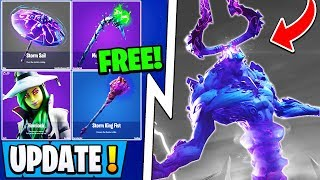 *NEW* Fortnite Update! | Free Halloween Rewards Now, All Skins, Storm King!