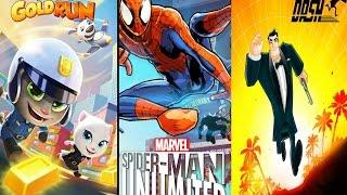 Running Games https://youtu.be/DtwBkBh2vIMSpider-Man Unlimited - Добро пожаловать в яркую игру в мире героев комиксов Marvel для ваших Андроид устройств. Соберите армию героев из всей паучей вселенной и помешайте шестерым зловещим суперзлодеям создать своих собственных двойников. Весь геймплей представляет собой раннер с периодическим выполнением различных трюков, а также борьбу по пути со врагами. Бросьте вызов всем злодеям игры, победите их солдатов зла, а также не забывайте спасти жителей города. В конце каждого эпизода игры вам предстоит сразится с боссом – зеленым гоблином, стервятником, электро, песочным человеком, и другими злодеями.Talking Tom: Gold run - помогите забавному говорящему коту собрать слитки золота, украденные злодеем. Ведите кота вперед по трассам, заполненным транспортом и препятствиями. Бегите вперед со всех ног вместе с котом Томом, главным героем этой игры для Андроид. Проводите по экрану пальцем, чтобы Том смещался в сторону, перепрыгивал преграды или проскальзывал под ними. Подбирайте полезные усиления, которые подарят коту уникальные возможности, например, полет. Получайте награды за выполнение миссий. Помогите Тому построить уютный дом. Общайтесь с друзьями и устанавливайте рекорды.Agent Dash – Красивый 3D раннер для андроид про тайного агента Дэша. Интересный, затягивающий геймплей, невероятная скорость, выполненная качественной графикой и анимацией с плавными эффектами, всё это и не только ожидает Вас в этой игре. Играть придётся, как Вы уже догадались, за тайного агента в чёрном костюме, по имени Дэш, бегущего на встречу опасностям. Как и присуще любому агенту, кроме простого бега Вы можете: стрелять, уклонятся от препятствий, использовать реактивный ранец и прочие спец. штуки агента. Главной целью является уничтожение вражеской базы, так что не подкачайте!Группа ВКонтакте http://vk.com/club105809232 Группа в Фейсбуке https://www.facebook.com/groups/834683356657914/------------------------------------Подпишись на Наш канал https://ww