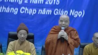 Lễ tổng kết viện nghiên cứu - Học viện Phật giáo Việt Nam TP.HCM (06/02/2015)