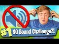 Can I Win With NO SOUND?! (Challenge) - Fortnite Battle Royale