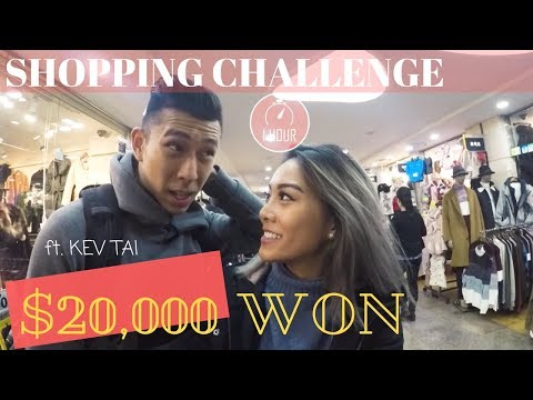 $20 SHOPPING CHALLENGE at Express Bus Terminal Underground Mall in | Seoul, Korea