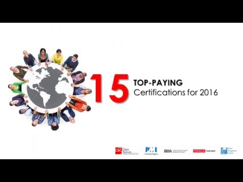 15 Top Paying Certifications For 2016