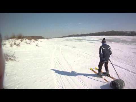 Мототолкатель лыжника своими руками