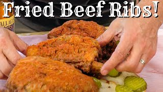 Deep Fried Smoky Nashville Hot Dino Ribs Experiment! by Ballistic BBQ