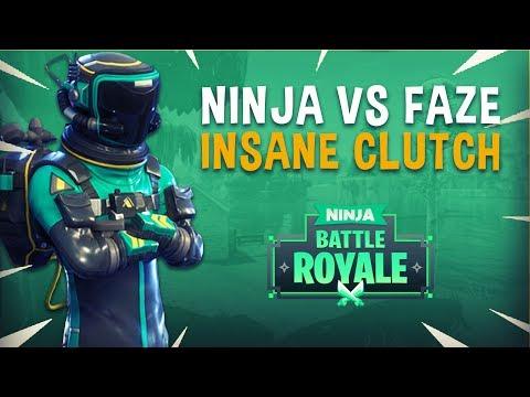 Ninja vs Faze Game 2 Insane Clutch! - Fortnite Tournament Gameplay (видео)