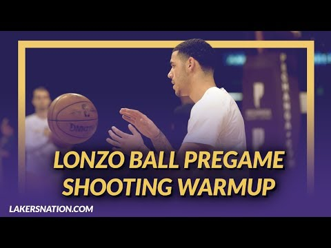 Video: Lakers Pre-Game: Lonzo Ball Getting Shots Up Before Game Against the Atlanta Hawks