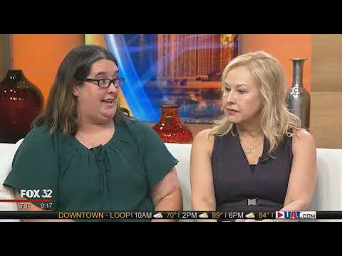 Watch a video about FOX 32 showcased The Lighthouse's fashion clocks