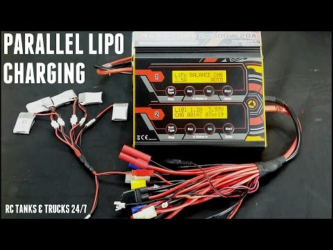 How To PARALLEL CHARGE Multiple LIPO BATTERIES
