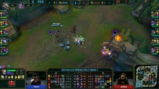 http://www.reddit.com/r/leagueoflegends/comments/5yvwxx/nalcs_just_press_r/     https://clips.twitch.tv/OpenSteamyHippoPRChase