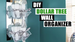 DIY DOLLAR TREE WALL ORGANIZER DIY Bathroom Organization