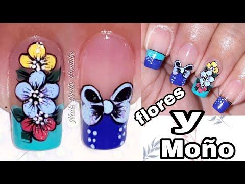 Uñas decoradas - Decoración de uñas de 3 FLORES y MOÑO/Uñas paso a paso/Decoración de uñas bonitas