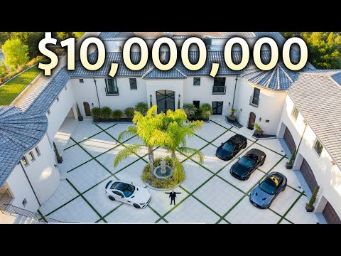 INSIDE a $10,000,000 California Mega Mansion with Garage Full of Supercars!