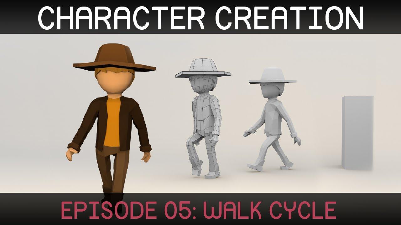 blender character animation walk cycle