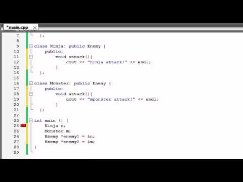 Buckys C++ Programming Tutorials – 56 – virtual Functions