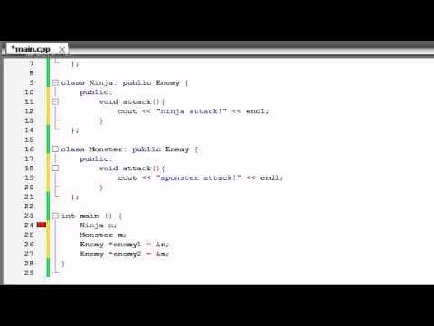 Buckys C++ Programming Tutorials – 56 – virtual Functions