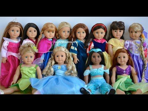 American Girl Doll Disney Princesses ~ Frozen, Cinderella, Ariel, Belle