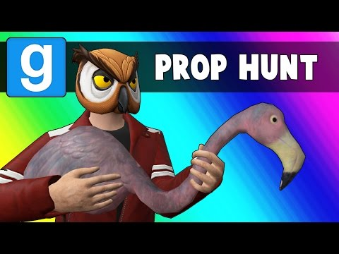 Gmod Prop Hunt Funny Moments - Flamingos & Glasses (Garry's Mod)