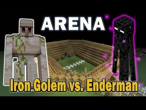 Minecraft Arena Battle Iron Golem vs. Enderman