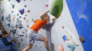 Hannes Is Trying To Muscle Up A 6C+ by Eric Karlsson Bouldering
