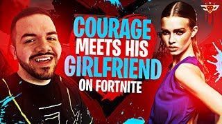 COURAGE MEETS HIS GIRLFRIEND ON FORTNITE?! I GOT BAITED! (Fortnite: Battle Royale)