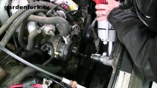 How to replace a car - truck alternator : GardenFork.TV