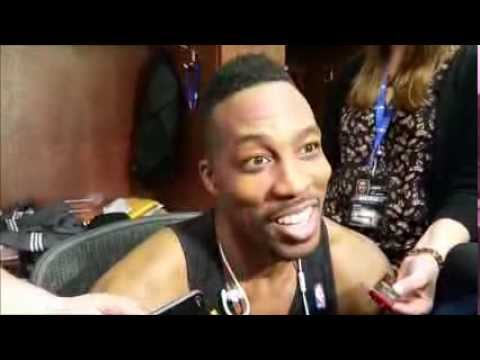 Dwight Howard after scoring 18 points in second game back