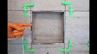 Modern Trim for a Shower Niche