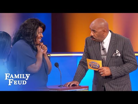 Hysterical answer cracks up the entire audience! | Family Feud