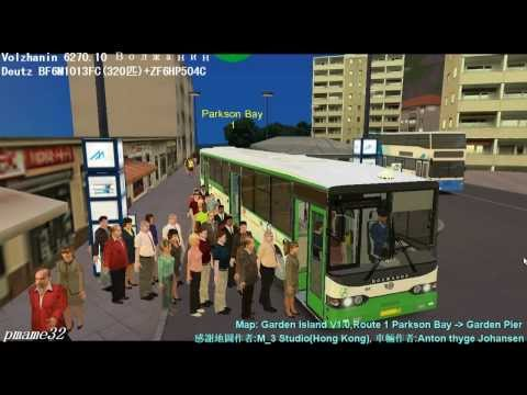 Omsi bus 遊車河 (238) Volzhanin - 6270.10 Волжанин 15м in Garden City Route 1 Garden Pier-Parkson Bay (видео)
