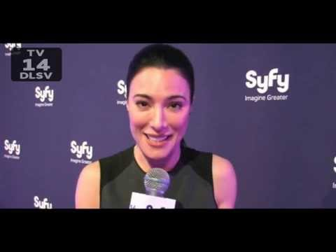 description jaime murray and dexter are laying in bed post
