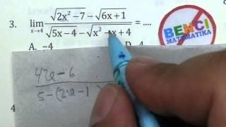 Video Cara Cepat Limit Akar-Bank Soal Matematika SMA No.3 MP3, 3GP, MP4, WEBM, AVI, FLV November 2017