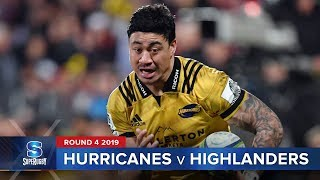 Hurricanes v Highlanders Rd.4 2019 Super rugby video highlights | Super Rugby Video Highlights
