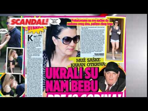 SKANDAL NOVINE: JEZIVO – muž Saške Karan – Ukrali su nam dete, Soraja promenila lični opis, Zoran Kalezić – Vesna Zmijanac mi je uzela sve pare