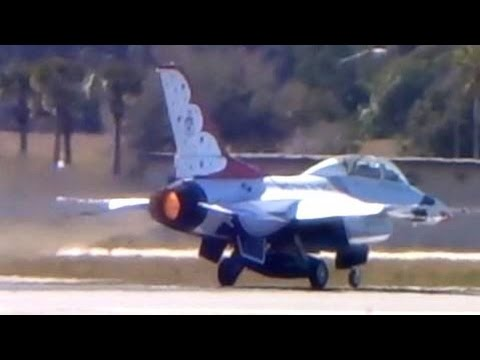F-16 full afterburner unrestricted takeoff