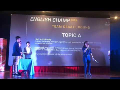 TRUNG TÂM ANH NGỮ TRƯỜNG PNL VỚI CUỘC THI ENGLISH CHAMP 2019
