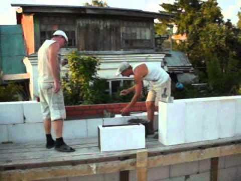 Как построить дом из газосиликатных блоков своими руками видео