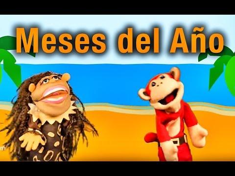 La Canción de  los Meses del Año - El Mono Sílabo y Nícola Cavernícola - Canciones Infantiles