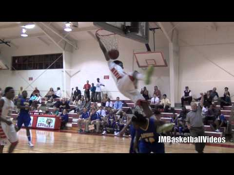 6'4 Sophomore Antonio Blakeney with 2 sick Dunks. Nasty Poster on 2 people