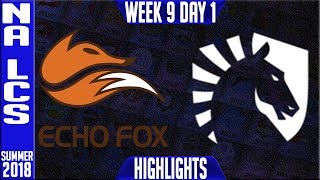 Video FOX vs TL Highlights | NA LCS summer 2018 Week 9 Day 1 | Echo Fox vs Team Liquid Highlights MP3, 3GP, MP4, WEBM, AVI, FLV Agustus 2018
