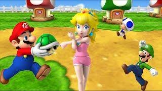 Mario Party 9 - Step it Up - Peach, Mario, Luigi, Toad Gameplay| Cartoons Mee