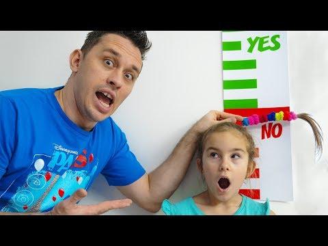 Melissa ingin melompt tinggi di Trampolin Video untuk anak-anak