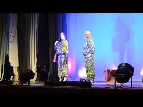 Театральная сценка, в исполнении Ирины Афониной и Евгении Хмара, «Весенние откровения» в Никеле.